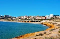Plage de miracle et vue panoramique de Tarragona Photographie stock libre de droits