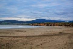 Plage de Monkey Island dans Southland, île du sud, Nouvelle-Zélande images stock