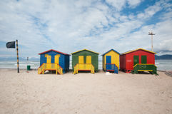 Plage de Muizenberg, Afrique du Sud Images libres de droits