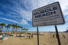 Plage de muscle en Santa Monica, LOS ANGELES Photographie stock libre de droits