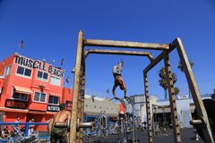 Plage de muscle, Venise, la Californie Image libre de droits