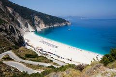 Plage de Myrtos, Kefalonia Image libre de droits
