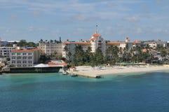 Plage de Nassau en Bahamas Photos stock