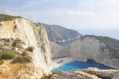Plage de Navagio Photos stock