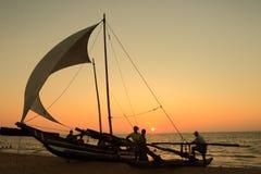 Plage de Negombo dans Sri Lanka photos libres de droits