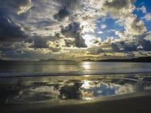 Plage de Nerga, péninsule de Morrazo, Galicie, Espagne Images libres de droits
