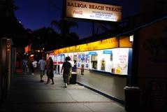 Plage de Newport, festins de plage de Balboa images stock