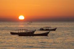 Plage de Ngapali - état de Rakhine - Myanmar Image libre de droits