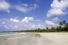 Plage de Ngwe Ssaung photo stock