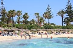 Plage de Nissi, Chypre Photos stock