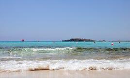 Plage de Nissi cyprus Photographie stock libre de droits