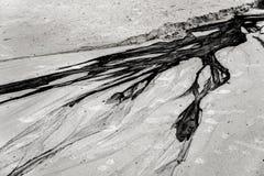 plage de pétrole et de sable Photo libre de droits