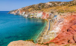 Plage de Paleochori, Milos île, Cyclades, Grèce Images libres de droits
