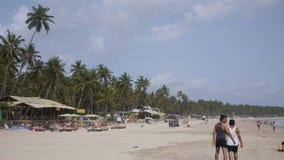 Plage de Palolem, Goa Image stock