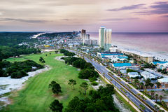 Plage de Panamá City, la Floride, vue de Front Beach Road Photos stock