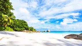 Plage de paradis à l'anse Latium sur les Seychelles 81 Photos libres de droits