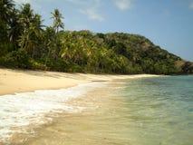 Plage de paradis aux Fidji Image stock