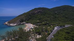 Plage de paradis, belle plage, plages merveilleuses autour du monde, plage de Grumari, Rio de Janeiro, Brésil, Amérique du Sud Br image libre de droits