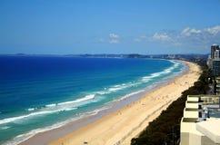 Plage de paradis de surfers Image libre de droits