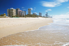 Plage de paradis de surfers, Gold Coast Photographie stock