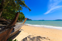 Plage de paradis de vacances Photos libres de droits