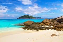 Plage de paradis des îles de Similan Photographie stock