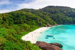 Plage de paradis des îles de Similan Image libre de droits