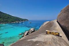 Plage de paradis des îles de Similan Images libres de droits