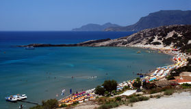 Plage de paradis en Grèce Photo libre de droits