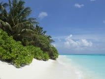 Plage de paradis en Maldives Photo libre de droits