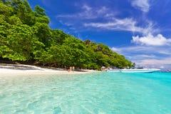 Plage de paradis sur des îles de Similan Images libres de droits