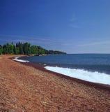 Plage de paradis sur le lac Supérieur - le Minnesota Photos stock