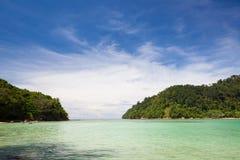 Plage de Paradise à l'île Sabah Malaysia de Sapi photographie stock libre de droits