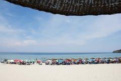 Plage de Paradisos sur l'île de Thassos Photos libres de droits