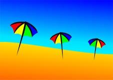 Plage de parapluie Image libre de droits