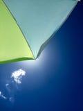 Plage de parapluie Photo libre de droits