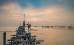 Plage de pasir de Tanjung photos libres de droits