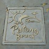 Plage de Patong Images stock