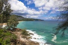 Plage de pierre de mer d'océan Images libres de droits