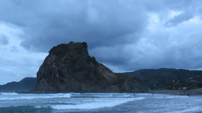 Plage de Piha, Nouvelle-Zélande Image stock