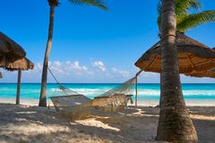 Plage de Playa del Carmen dans le Maya de la Riviera photos libres de droits