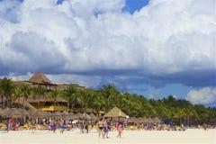 Plage de Playa del Carmen, Mexique photographie stock libre de droits