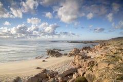 Plage de point de Forcados ; Costa de la Muerte ; La Galicie Photo stock
