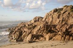 Plage de point de Forcados ; Costa de la Muerte ; La Galicie Images stock