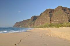 Plage de Polihale, Kauai, Hawaï Photographie stock