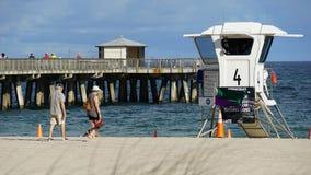 Plage de Pompano en Floride Photographie stock