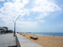 Plage de Pondicherry Photo stock