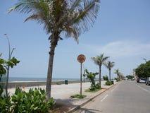 Plage de Pondicherry Image libre de droits