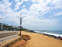 Plage de Pondicherry Photographie stock