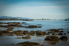 Plage de port Photo stock